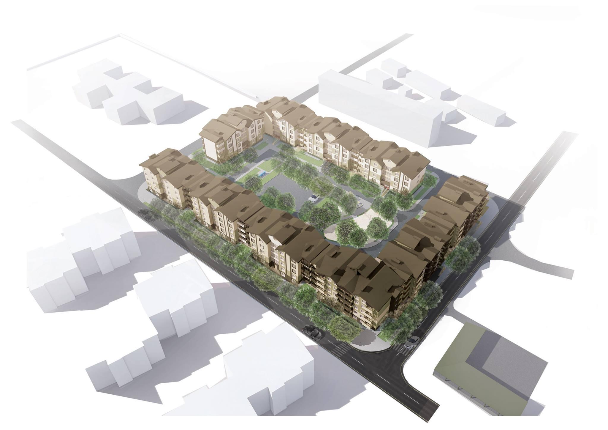 Проект жилого комплекса в Днепропетровске