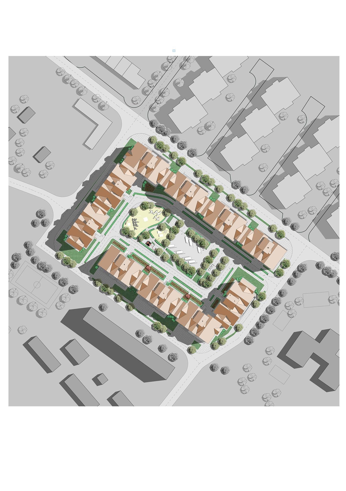 Жилой комплекс архитектурный проект